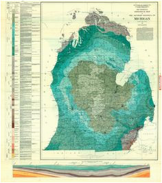 70 best maps and aerials michigan images on pinterest lac