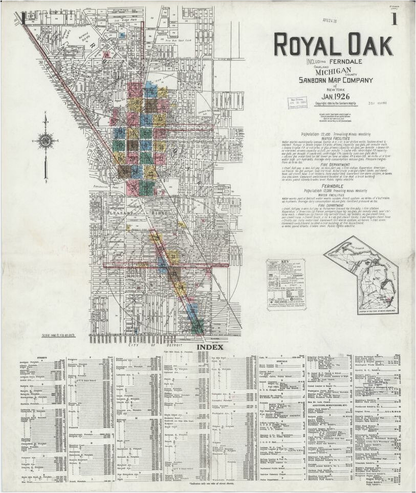 sanborn fire insurance map from royal oak oakland county michigan