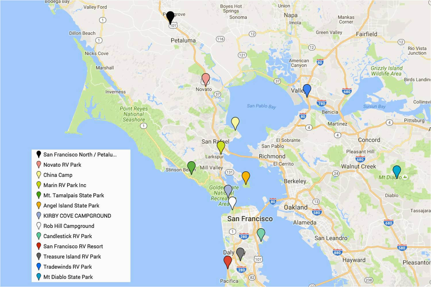 san francisco camping guide