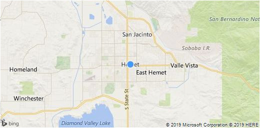 hemet area map information