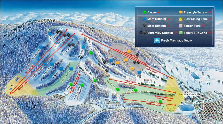 ski liberty mountain conditions near liberty mountain resort