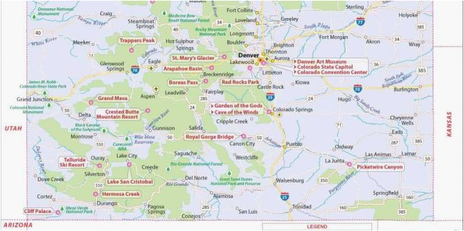 colorado lakes map maps directions