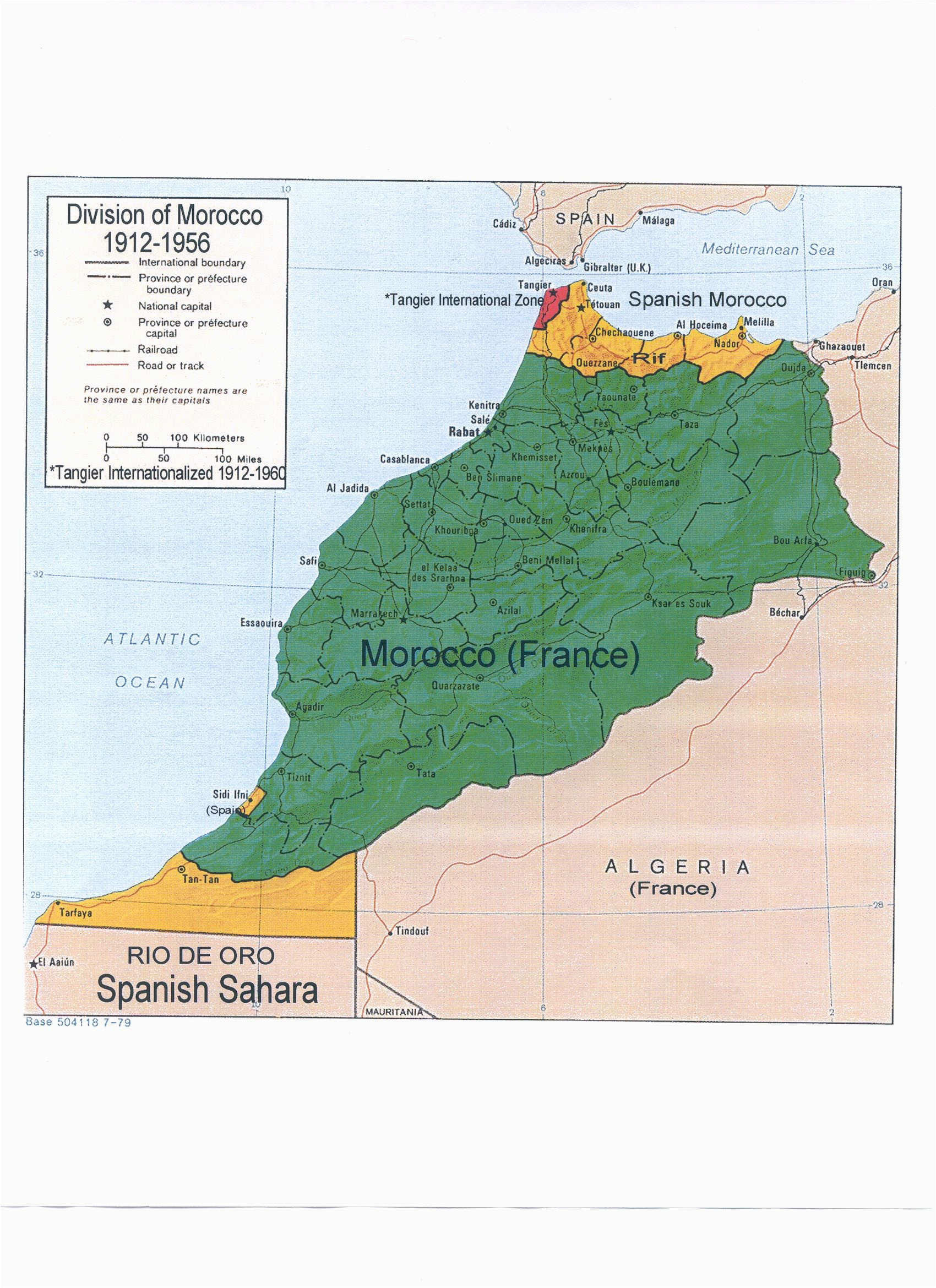 map colonial morocco map mapa historico mapas geografia e