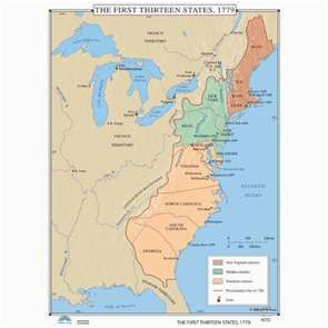 the first thirteen states 1779 history wall maps globes