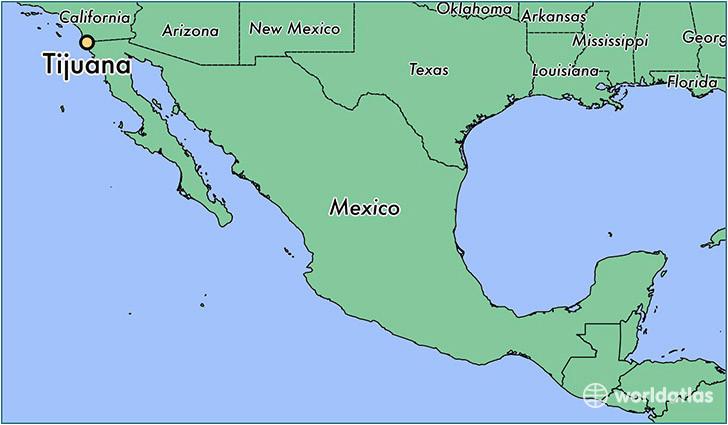 tijuana mexico map lovely mexico s baja california state essential
