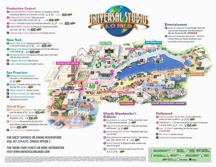 universal studios california map new universal studios park map