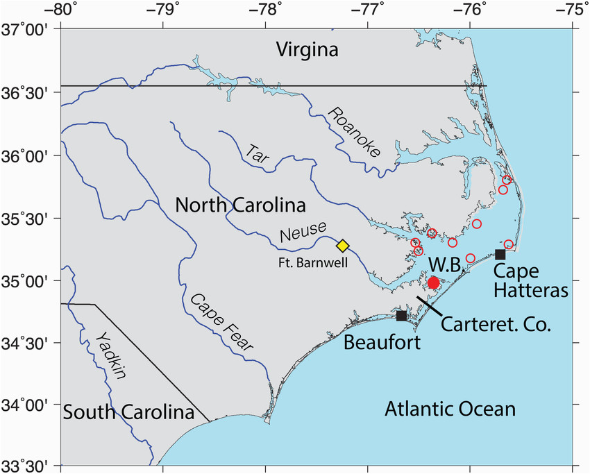 location map oyster reserve sites in pamlico sound north carolina