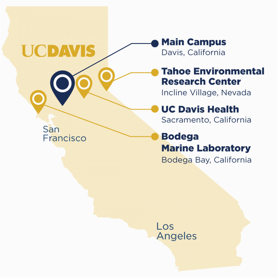 Uc Campuses Map Map Of University Of California Campuses About Uc Davis Uc Davis