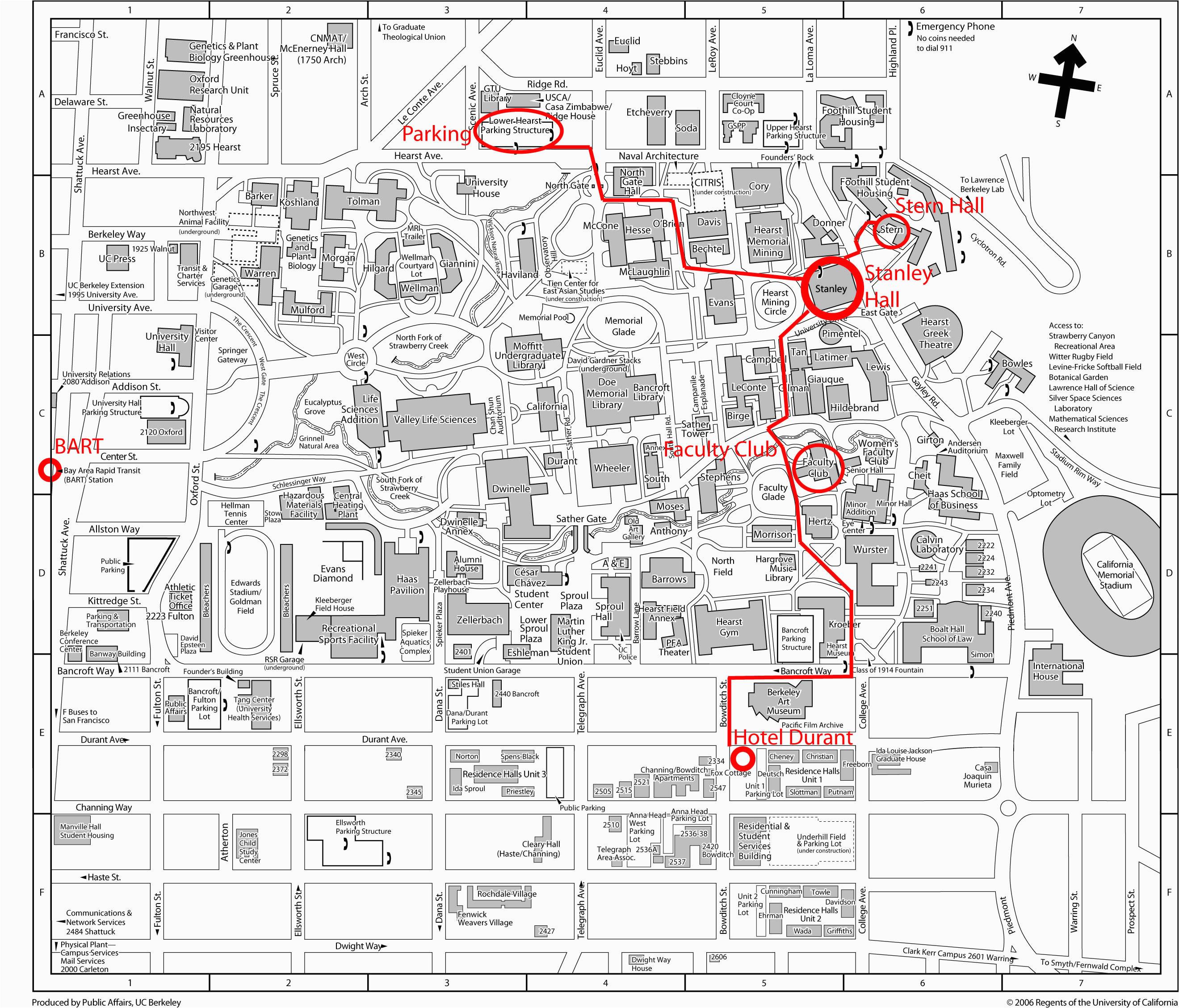 download map uc berkeley campus printable uc in california map