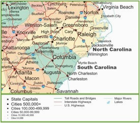 north carolina state maps usa maps of north carolina nc