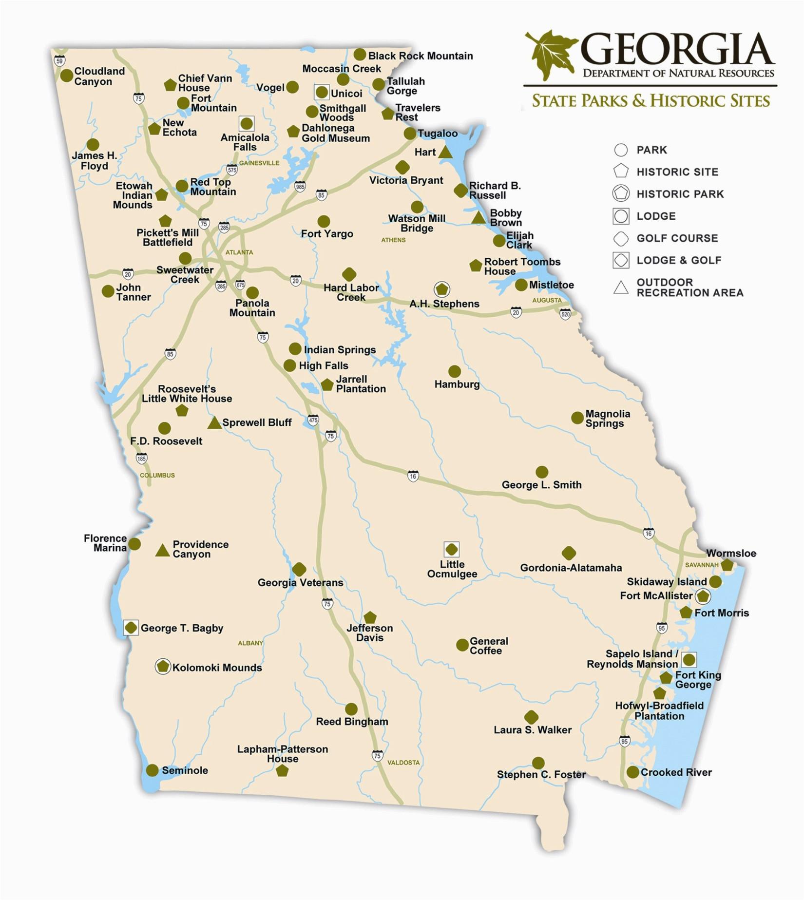 georgia state maps usa maps of georgia ga