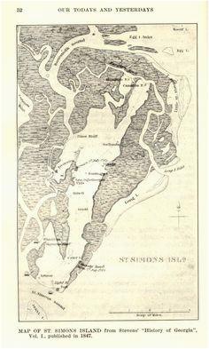 7 best saint simons island maps images island map saint simon