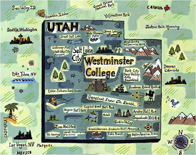 westminster college map utah gina triplett illustrated maps
