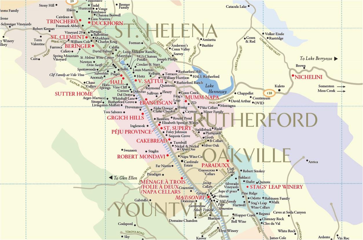 napa county map lovely map northern california coastal cities