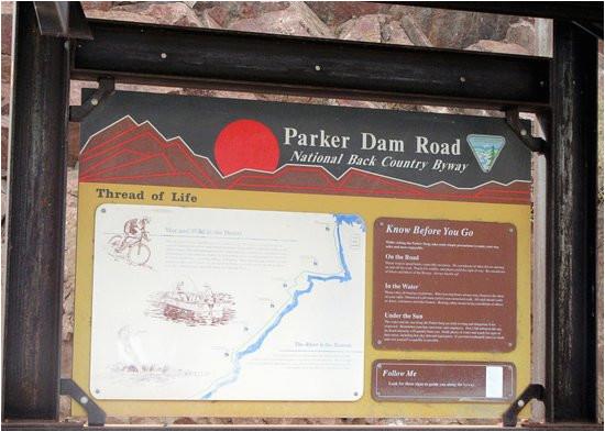 parker dam between lake havasu and the colorado river parker