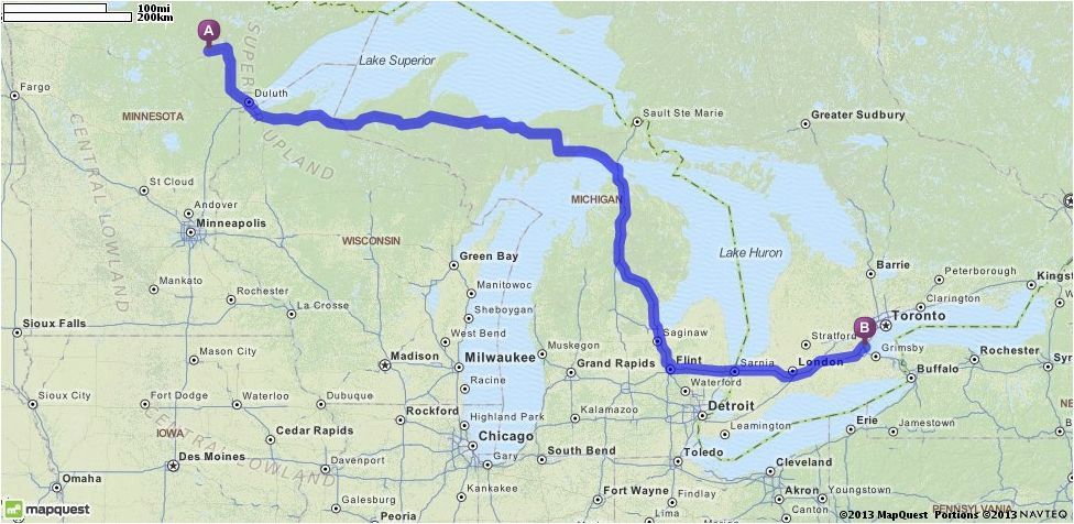 mapquest canada driving directions toronto