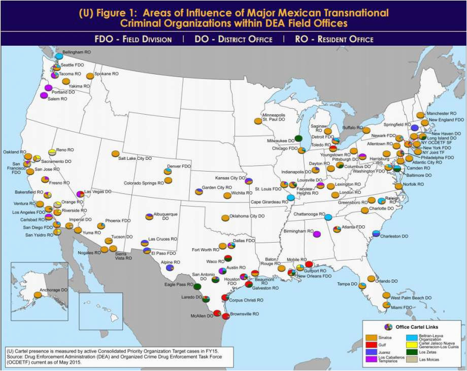 dea maps show where mexican drug cartels hold sway in texas
