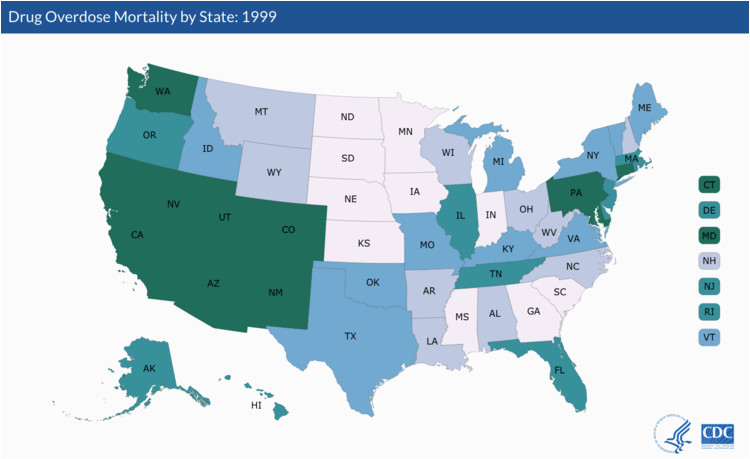 us states with the highest rates of drug overdoses business insider