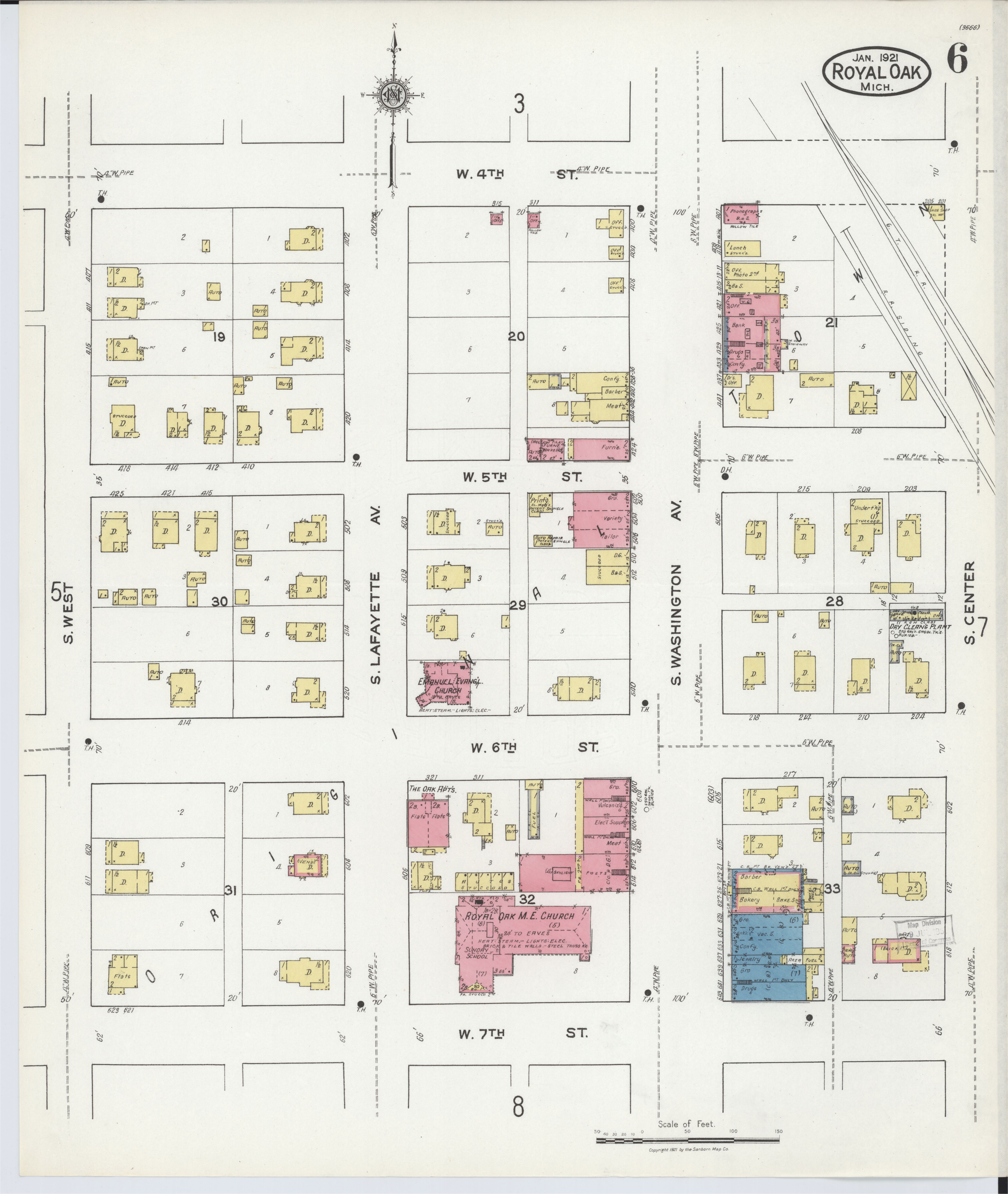 file sanborn fire insurance map from royal oak oakland county