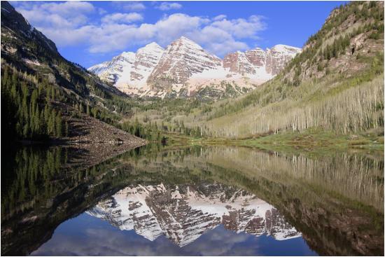 maroon bells and maroon lake in spring picture of maroon lake
