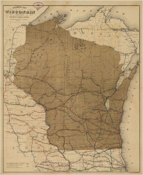 map of michigan central railroad lines 1916 michigan in 2019