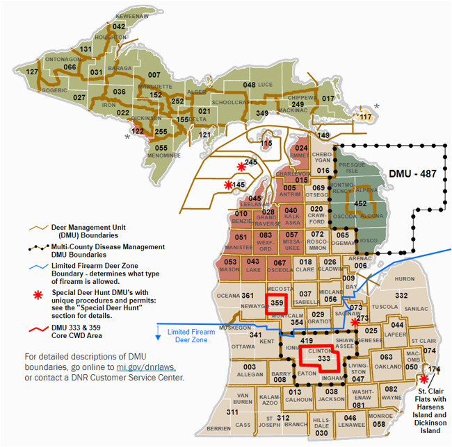 Michigan Hunting Zones Map Dnr Dmu Management Info