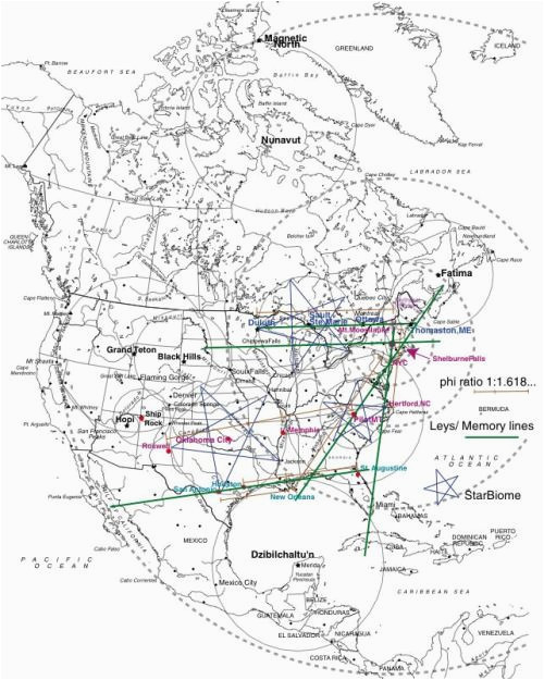 a fairly accurate map of know north american ley lines the lines