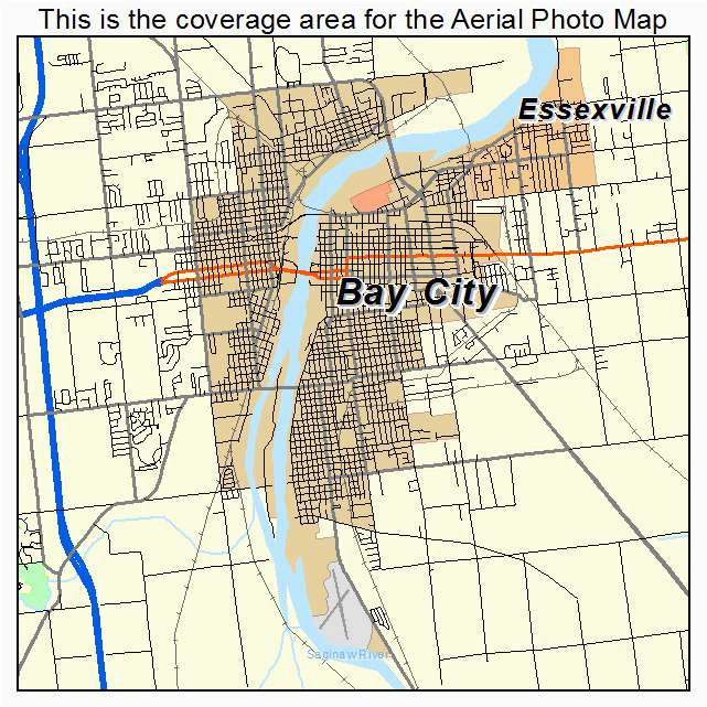 bay city michigan map bnhspine com