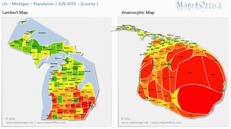Michigan Population Density Map Us Michigan Map County Population Density Maps4office