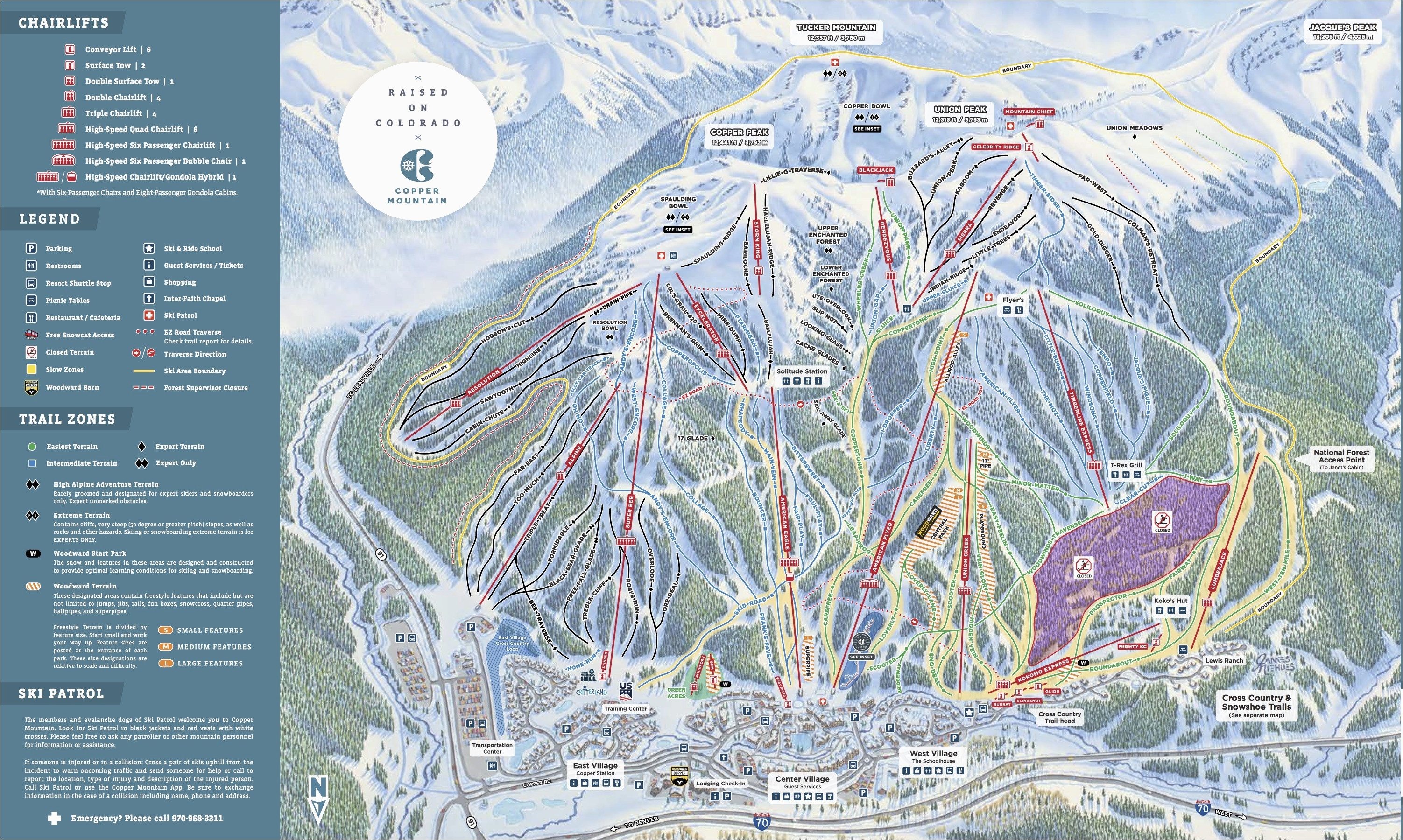 Michigan Skiing Map Copper Mountain Resort Trail Map Onthesnow