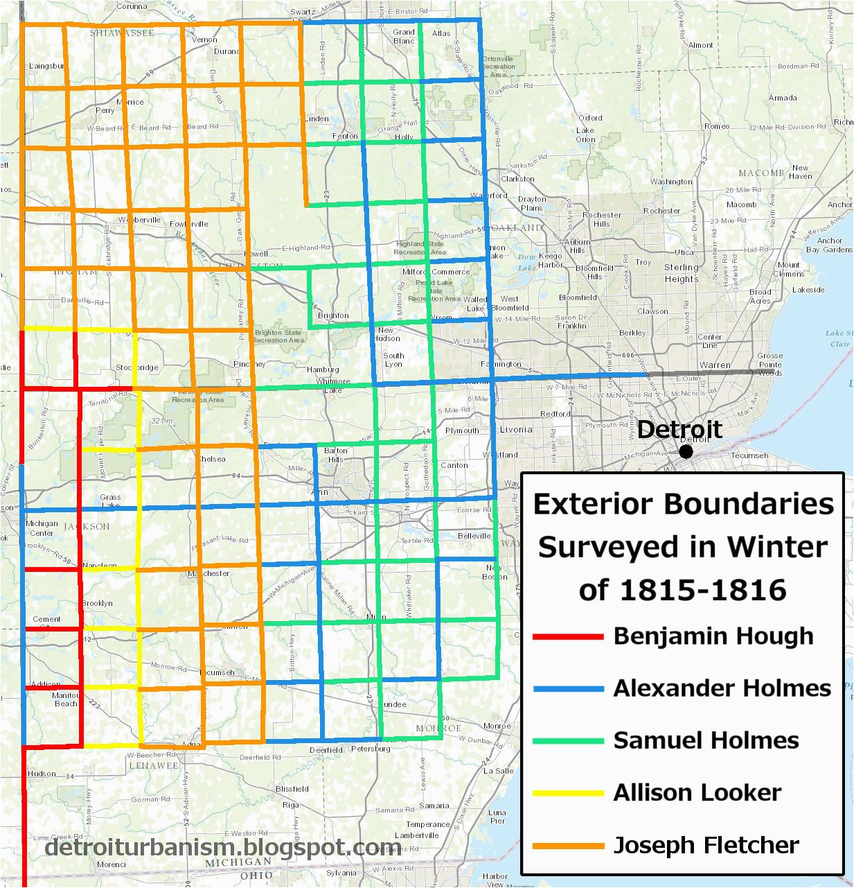 detroit urbanism the grid part i the survey of michigan