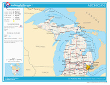 Michigan Union Map Index Of Michigan Related Articles Wikipedia