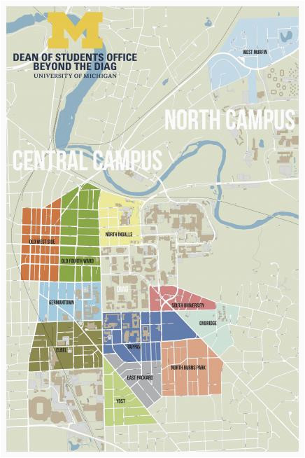 colleges in michigan map fresh beyond the diag f campus housing