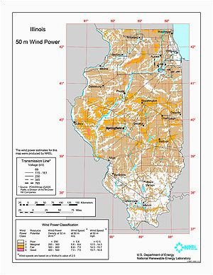 illinois wind resource map maps cartography mappe mapa a a a