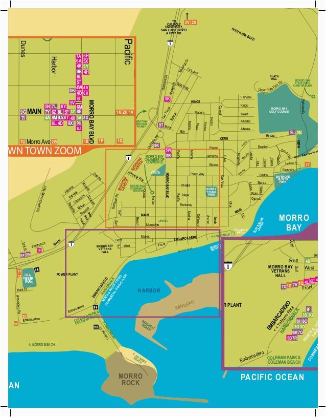 Morro Bay California Map Morro Bay California Visitor Guide