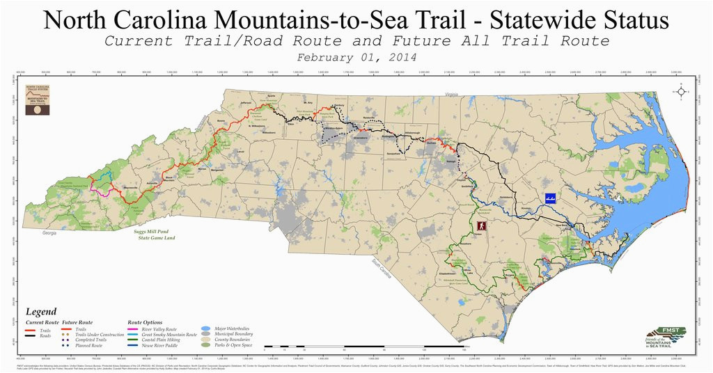 mountains to sea trail mst maplets