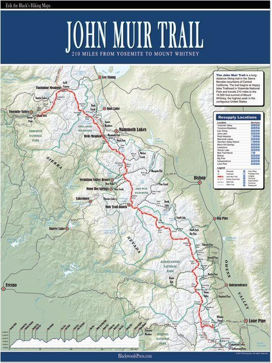 john muir trail map ii love maps thrillaaaaaa pinterest