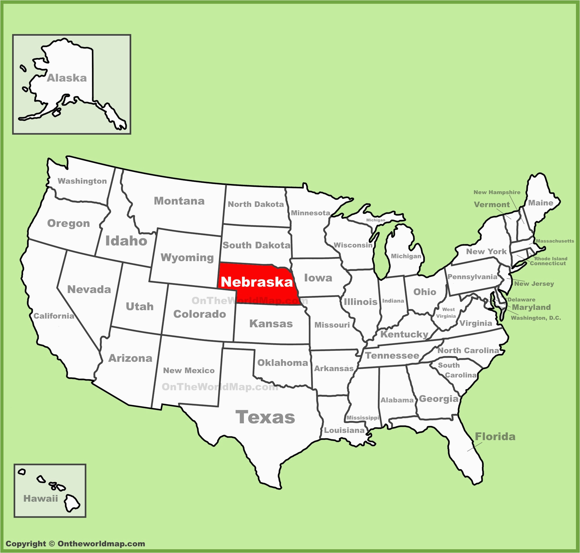 nebraska state maps usa maps of nebraska ne