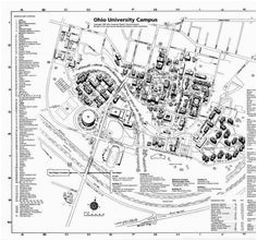 60 best aerial views and maps of the ohio campus images on pinterest