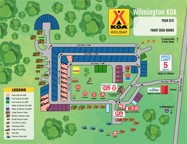 North Carolina Campgrounds Map Wilmington north Carolina Camping Photos Wilmington Koa