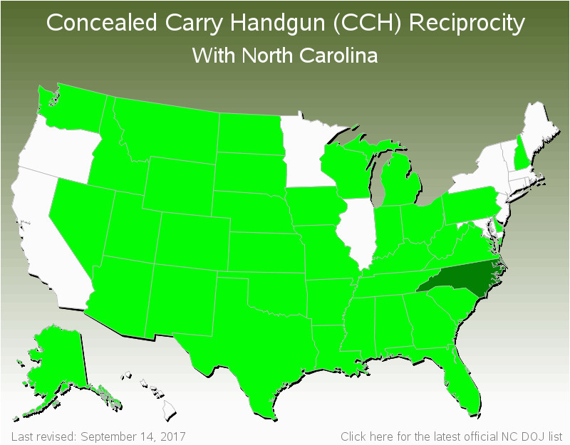 North Carolina Concealed Carry Reciprocity Map Secretmuseum - Us-concealed-carry-reciprocity-map