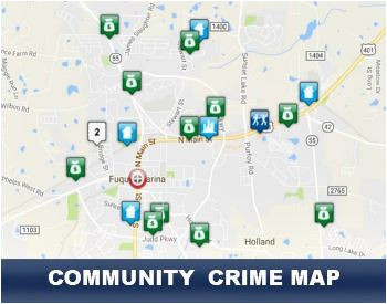 community crime map fuquay varina nc