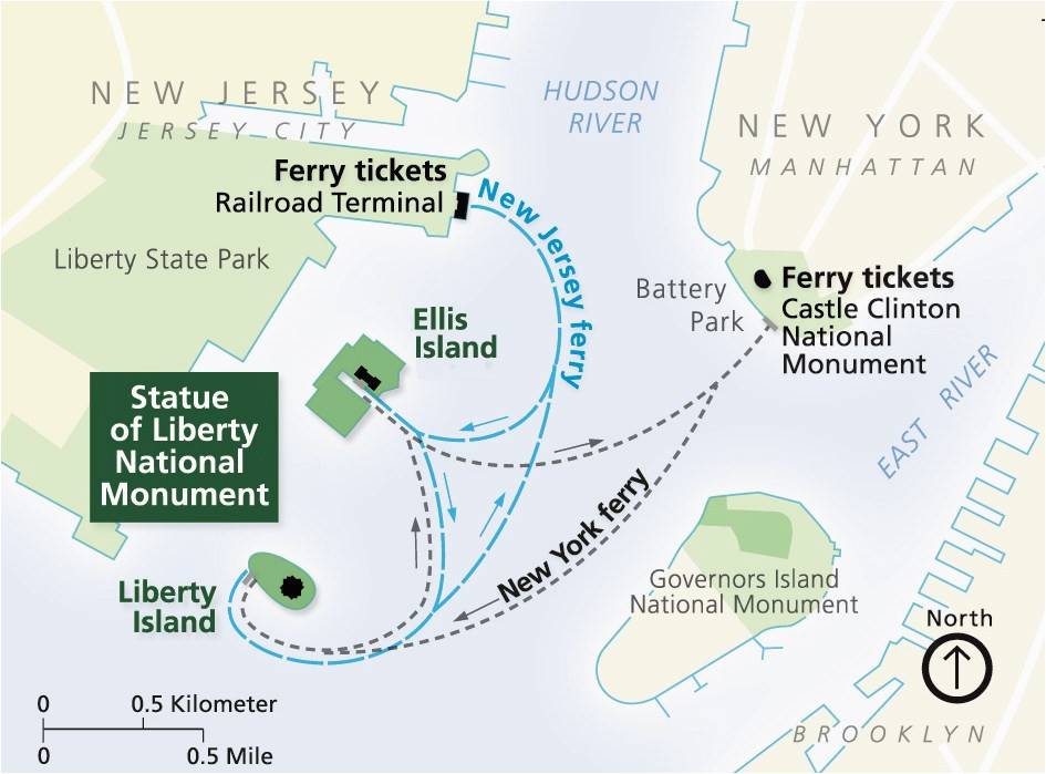 North Carolina Ferry System Map Directions Statue Of Liberty ...