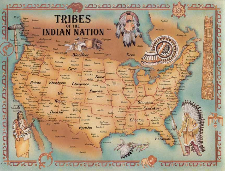 tribes of the indian nation i have two very large maps framed on my