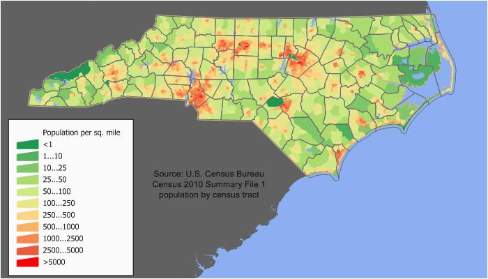 North Carolina Population Density Map Culture Of north Carolina Wikipedia