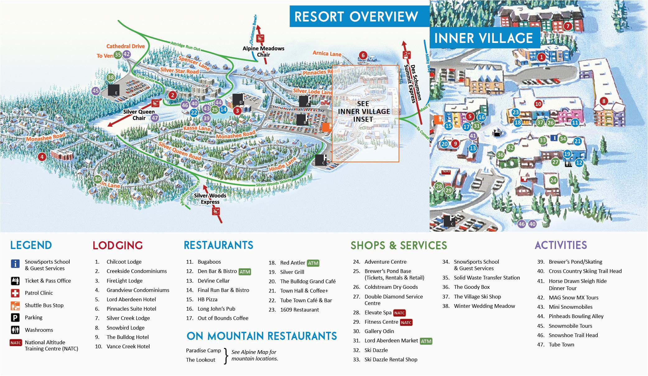 village map silver star mountain resort