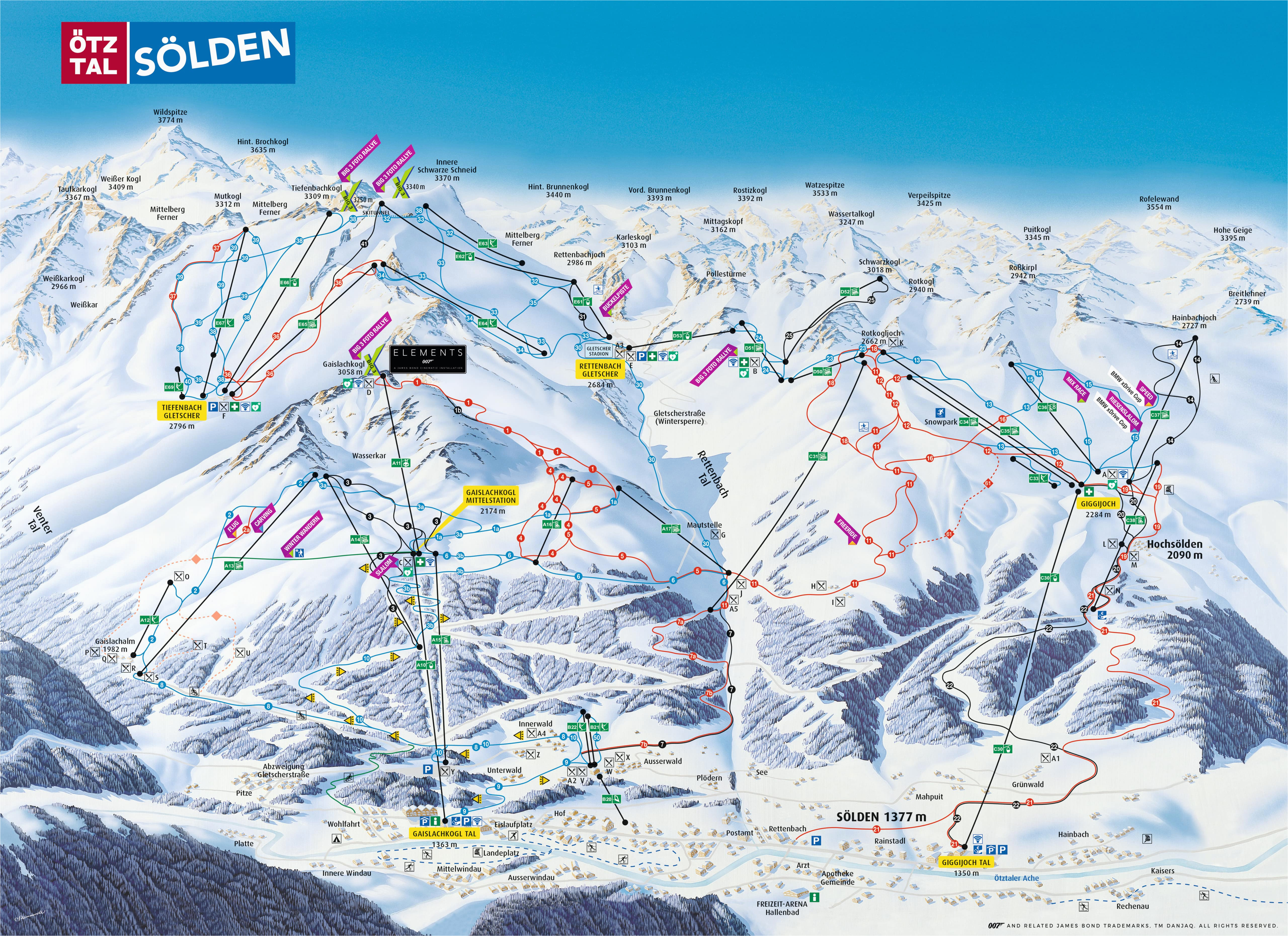 solden austria piste map free downloadable piste maps