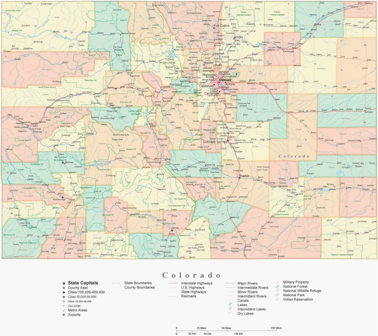 map of colorado towns luxury colorado county map with roads fresh