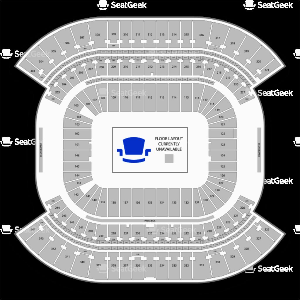 nissan stadium seating chart map seatgeek