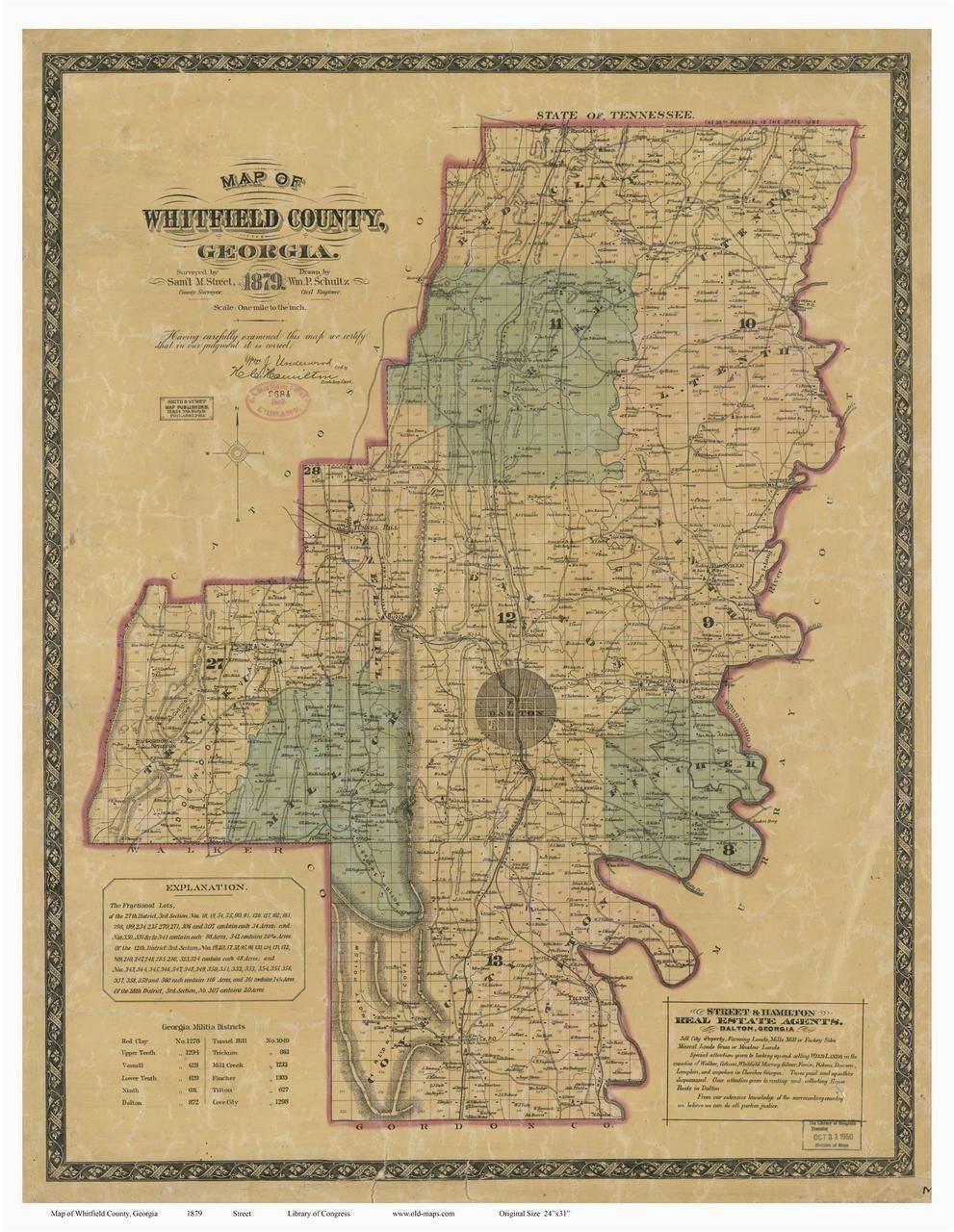 whitfield county 1879 georgia old maps of georgia pinterest